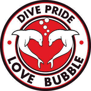Logo Dive Pride Love Bubble
